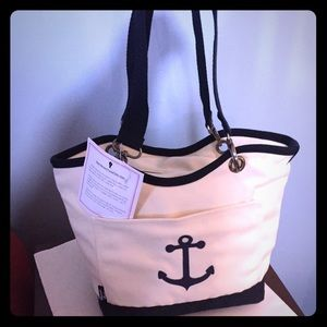 New Thirty-One Canvas Thermal Lunch Tote